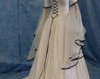 Medieval wedding, handfasting dress, renaissance dress, elven dress, custom made