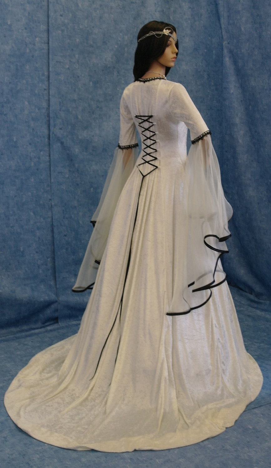 Medieval wedding handfasting dress renaissance by for Renaissance inspired wedding dress