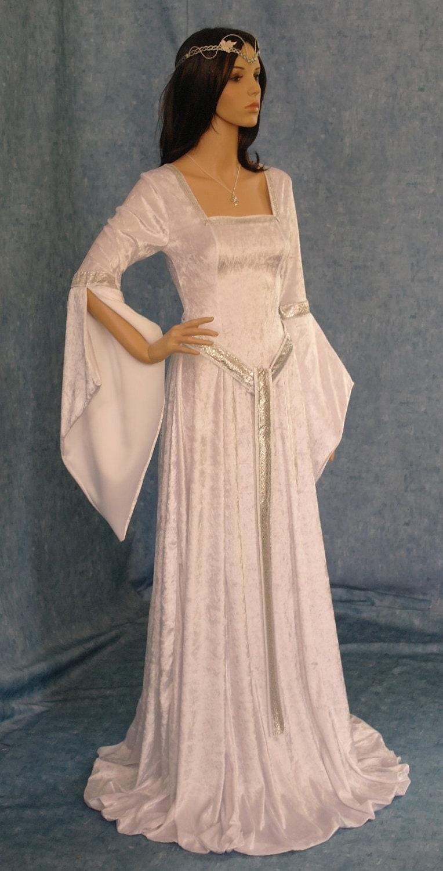 ELVEN DRESS Medieval Renaissance Fairy Dress By Camelotcostumes