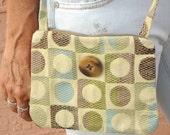 Cross Body Bag Small Sling Bag Blue Green Geo Design