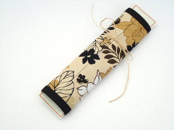 Seat Belt Cover Quilted  - Earth tone florals