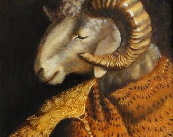 Ram art - Portrait of a Seeker- 8x10 print