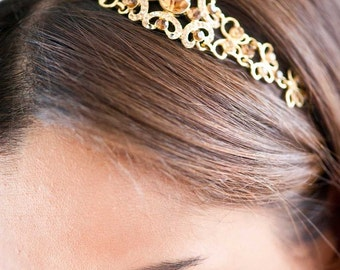 Bridal Headband - Bridal Headpiece - Crystal Headband - Crystal Headpiece - Wedding Headband - Wedding Headpiece - Prom Headband - SOPHIA