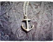 Tiny Sterling Anchor Necklace - Sterling Silver Anchor Charm on a Delicate Sterling Silver Cable Chain or Charm Only