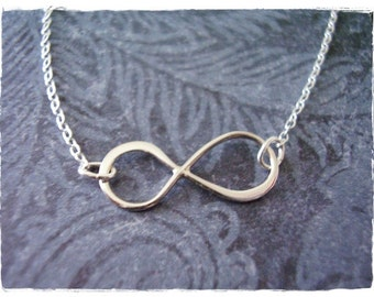 Silver Infinity Necklace - Sterling Silver Infinity Charm on a Delicate Sterling Silver Cable Chain or Charm Only