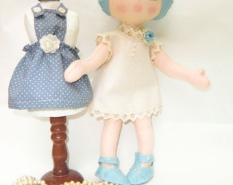 """Instant digital download Art Doll Pattern PDF DIY """" Doll Wilma """"with two clothes"""