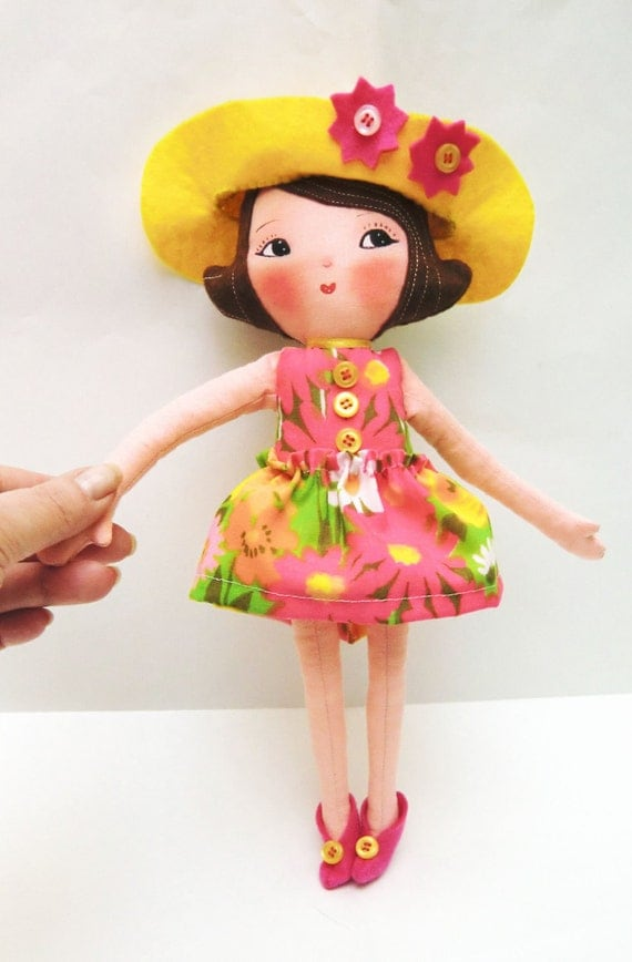 "Art Doll Pattern PDF DIY "" Doll  Girl Ginger  "" sewing  free shipping(send for e-mail)"