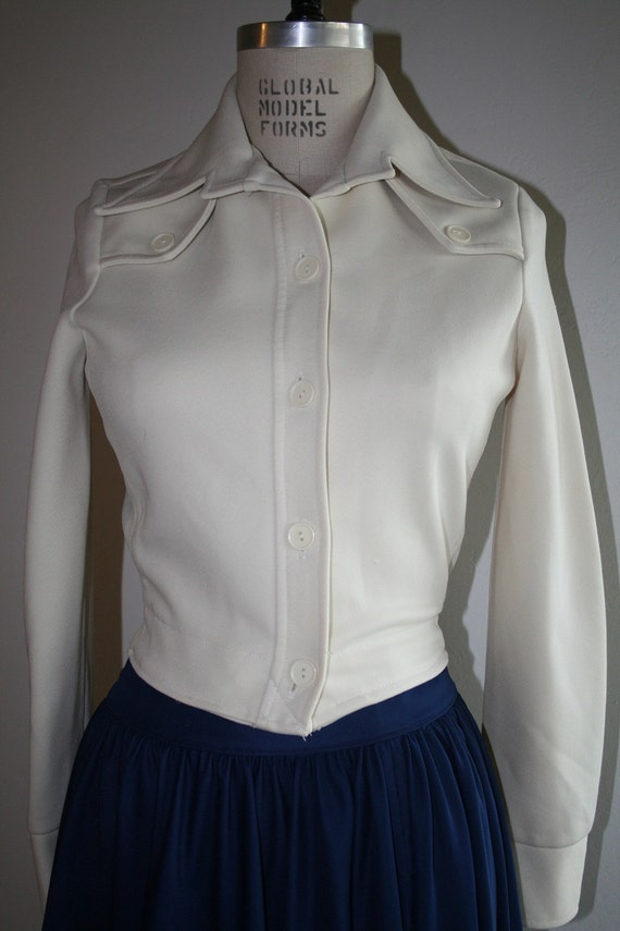 Vintage Fiited Jacket 60s/70s Petite Cream MATADOR Jacket XS
