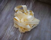 Fold over elastic 5 yards   yellow   color