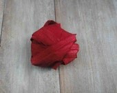 Fold over elastic 5 yds. red color