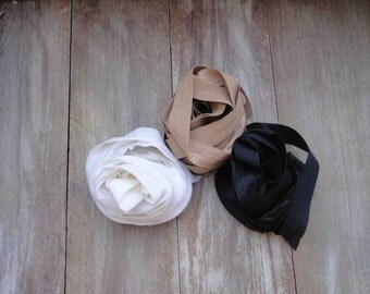 This listing is for 6 yards 2 of each color cream black white colors