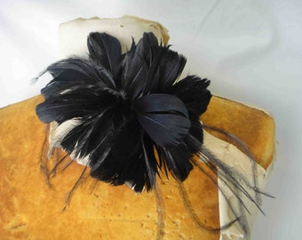 Feather flower  1 pieces listing  black    color