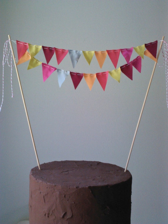 bunting wedding cake topper items similar to cake bunting flags wedding cake topper 12226