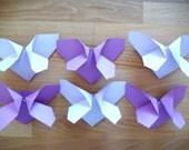 Origami Butterflies in Grapey Grape