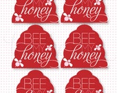 Valentine PRINTABLE Gift Tag 'Be My Honey' INSTANT DOWNLOAD by Love The Day