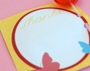 Butterfly Party PRINTABLES Thank You Cards by Love The Day