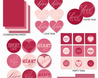 A Modern Lovely Valentine Party PRINTABLE by Love The Day