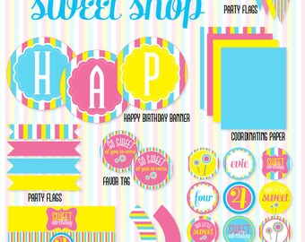 Sweet Shop PRINTABLE Party Full by Love The Day