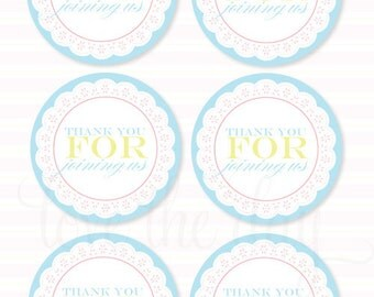 Frilly Tea Party PRINTABLE Favor Tags (INSTANT DOWNLOAD) by Love The Day
