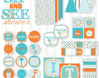 Sip & See PRINTABLE Baby Shower by Love The Day