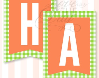 Hoppy Birthday Party PRINTABLE Banner by Love The Day