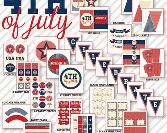 4th of July Americana PRINTABLE Party by Love The Day
