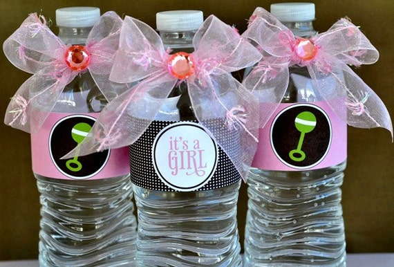 So Girly Baby Shower PRINTABLE Drink Labels from Love The Day