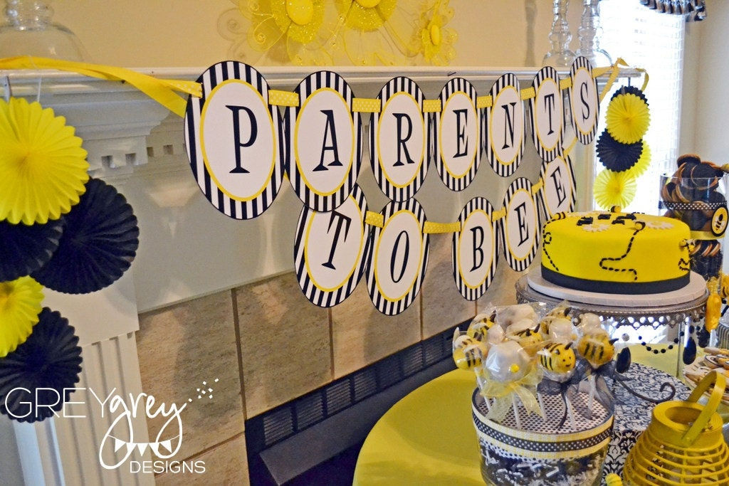 Baby Bee Shower PRINTABLE Parents To Banner