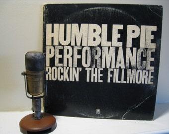 "ON SALE Humble Pie Vinyl Record Lp Vintage 1970s Classic Rock LIVE ""Performance: Rockin The Fillmore"" (Original 1971 2Lp w/""I Don't Need No"
