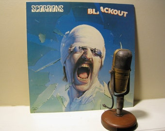 "ON SALE Scorpions Vinyl Record Album 1980s Classic Rock LP,""Blackout"" (Scarce 1982 Rca Record Club version w/""No One Like You"") - Vintage Vi"