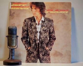 "ON SALE Jeff Beck Vinyl Record Album Vintage 1980s Fusion Rock Jazz Pop ""Flash"" (Original 1985 Epic Records with Rod Stewart on ""People Get"