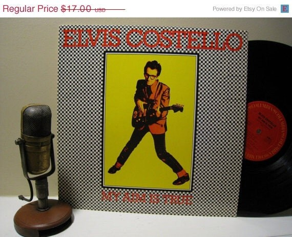 """Elvis Costello """"My Aim is True"""" (1977 Columbia Records featuring 'Alison' and 'Watching the Detectives') Vintage Vinyl"""