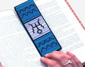 Aquarius Cross Stitch Kit Astrology Zodiac Bookmark