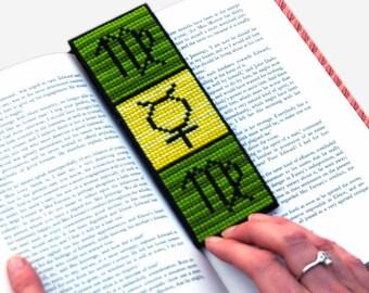 Virgo Cross Stitch Kit Astrology Zodiac Bookmark