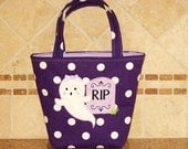RIP The Ghost - Trick or Treat Tote Bag- Can Be Personalized