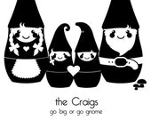 Gnome Custom Family Portrait - (8x10)