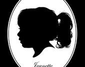 Children Custom Silhouette Portrait Keepsake (8x10) for Boy or Girl