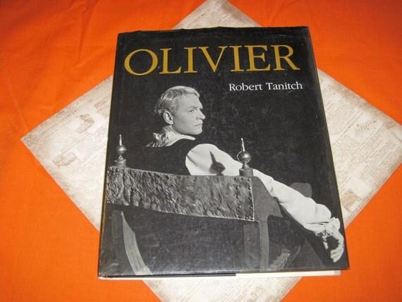LAURENCE OLIVIER The Complete Career 182 Illustrations - Vintage Biography Book 1980s