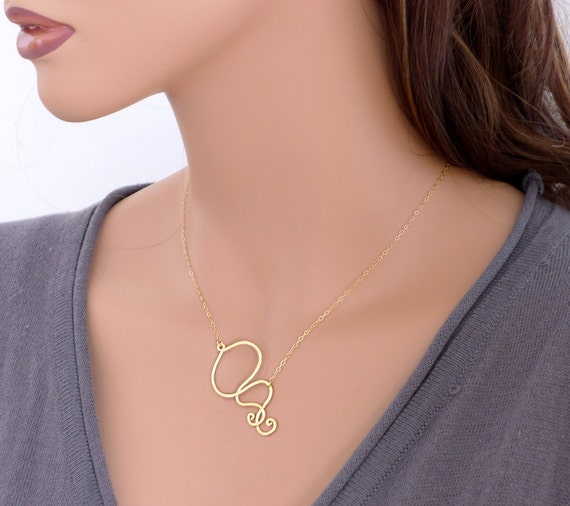Gold necklace, everyday jewelry, Scroll curve modern chic pendant,  holidays gift, 14k gold filled chain, wedding, bridesmaid, by balance9