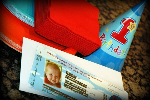 CLEARANCE 50% OFF PRINTABLE Airplane Birthday Invitation Boarding Pass pdf Girl or Boy