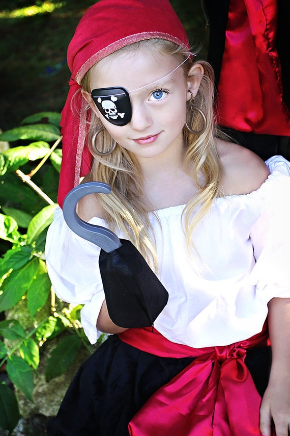 Halloween Pirate costume Pirates Girl  Child size