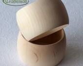 CLEARANCE: Wooden bangle - 50mm wide domed round size S/M, unfinished wooden bracelet, wood bracelet, wood bangle, raw wood bangle