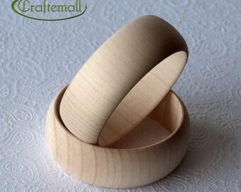 CLEARANCE: Set of 25 Wooden bangles - 30mm domed round size M, unfinished wooden bracelet, wood bracelet, wood bangle, raw wood bangle