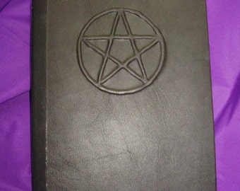 Modern Witch Book of Shadows Black Leather