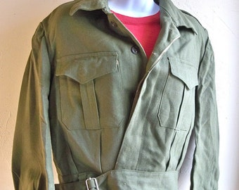 "Super Cute Army Surplus Women's Waist Cut Jacket - MEDIUM  ""Fully Lined with Nice Details"""