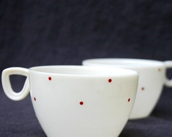 Cup of tea and tiny polka dots