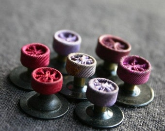 The vintage purple rosettes instant collection. Military decorations.