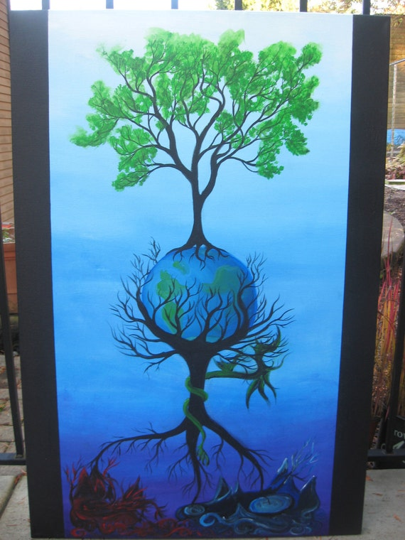 Yggdrasil Original Large Abstract Fine Art Landscape Fantasy