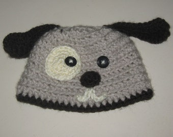 Puppy Hat in Taupe- Made To Order