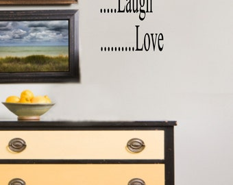 Live Laugh Love Vinyl Wall Art Word Art Decal Sticker Stencil Lettering